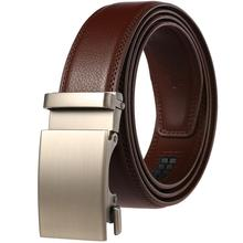 High Quality Business Men Belt Automatic Buckle Fashion Man Real Leather Belt Popular Casual Male Luxury Black Belts cody steel mens fashion belt pu leather automatic buckle men belt designer popular casual business male belts luxury