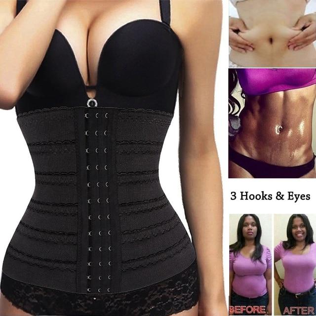 a6ec5b6d7e Women Waist Cincher Trainer Tummy Control Fat Burne Corset Summer Weight  Loss Shapewear Slimming Body Shaper