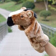 Animal Horse Hand Puppet Marioneta Dolls Plush Elephant Panda Cat Doll Learning Baby Toys Marionetes Fantoche