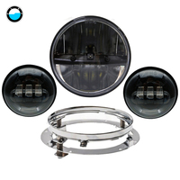 Motorcycle lighting LED 7 Daymaker Headlight Passing Lights Mount Ring For Harley Davidson Touring. Motorcycle assembly.
