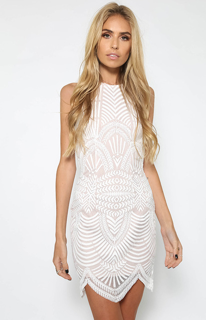 mini dress sexy casual beach party elegant short festa off white  sleeveless off  shoulder gatsby tank lace prom streetwear 2018