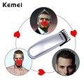 Kemei Batería Cortadora de Cabello Profesional de Los Hombres Barba Removal Kit De Corte De Pelo Corte de Pelo máquina de Afeitar Eléctrica Barbero Podadoras P00