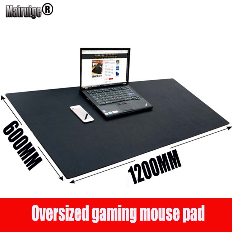 лучшая цена Mairuige brand 1200*600*3MM large size black gaming mouse pad PC digital mechanical keyboard laptop pad USB trackball speed mat