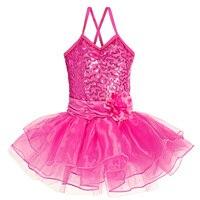2016 Newest Child Girls Ballet Dancewear Dress Tranning Dance Tutu Dress Leotard 5 Size 3Colors Sleeveless