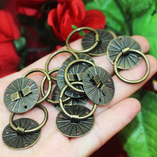 20mm Small Drawer Door Pull Handle Round Ring Knobs Bronze Tone Jewelry Case Wooden Box Iron Decorative Ring Pull