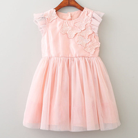 Bear Leader Girls Dresses 2018 New Brand Princess Girl Clothes Butterfly Decoration Lace Fly Sleeve Net