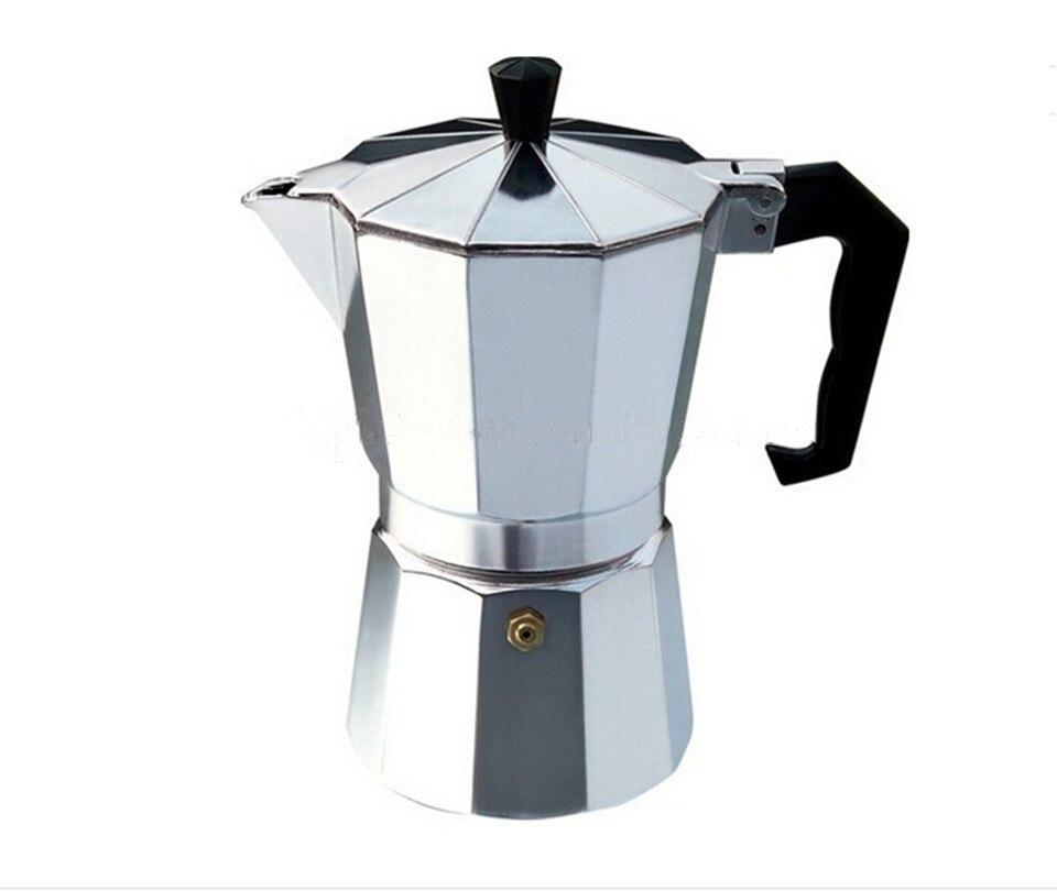 """Aliuminio viryklės espreso aparatas Klasikinis """"Moka"""" kavos puodelis Espreso perkoratoriai """"Moka"""" kavos virimo aparatas (sidabrinis)"""