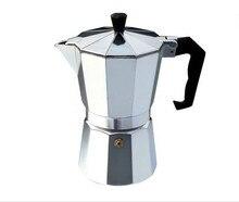 Aluminium Herd Espresso Maker Klassische Moka Kaffeekanne Espresso Percolators Moka Kaffeemaschine (Silber)