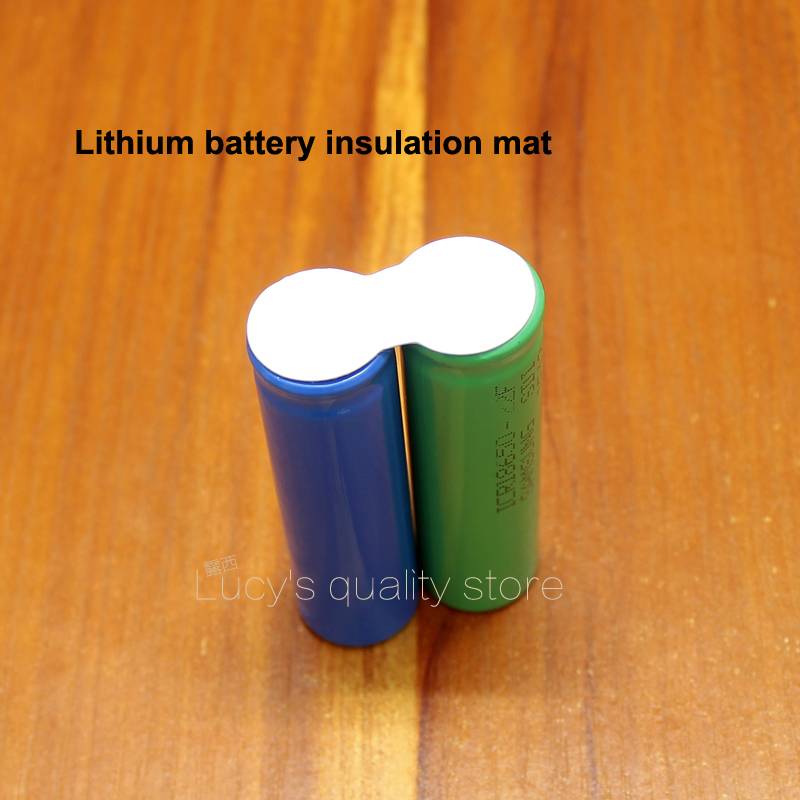 Купить с кэшбэком 100pcs/lot 3 and series 18650 lithium battery solid insulation gasket 2 and 2 string 18650 battery insulation pad white