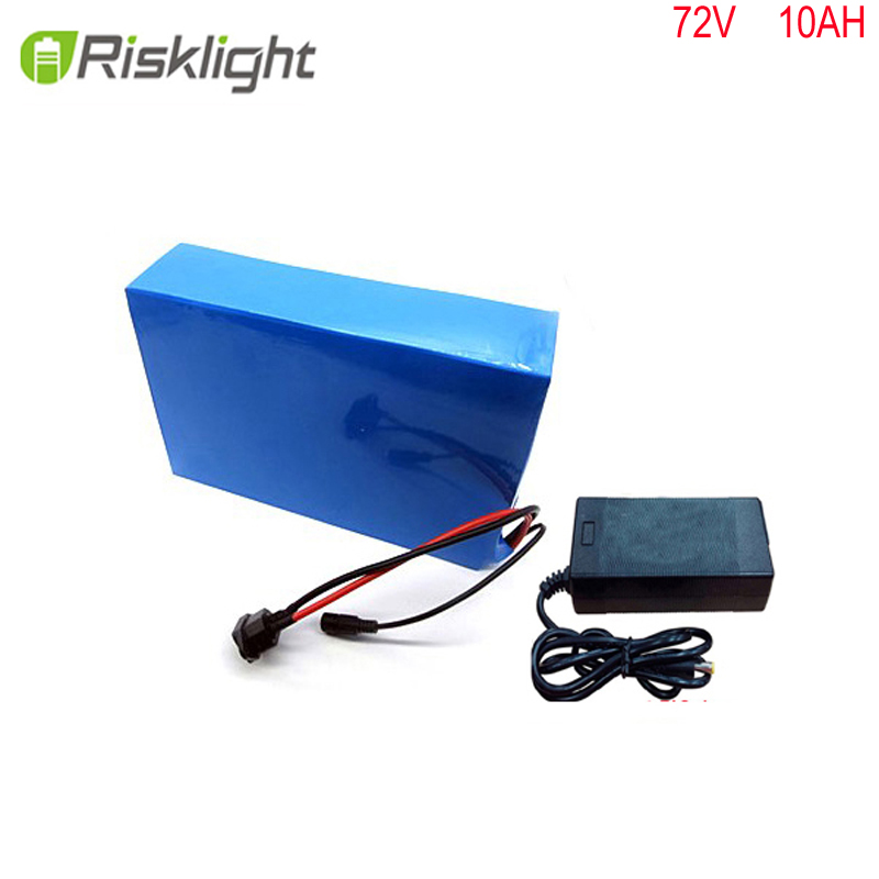 Free customs taxes High quality DIY 72volt 10ah li-ion battery pack with charger and BMS for 72v 10ah lithium battery pack free customs taxes customized power battery 51 8v 52v 50ah lithium battery pack for scooter motocycle e bike ups ev led lights