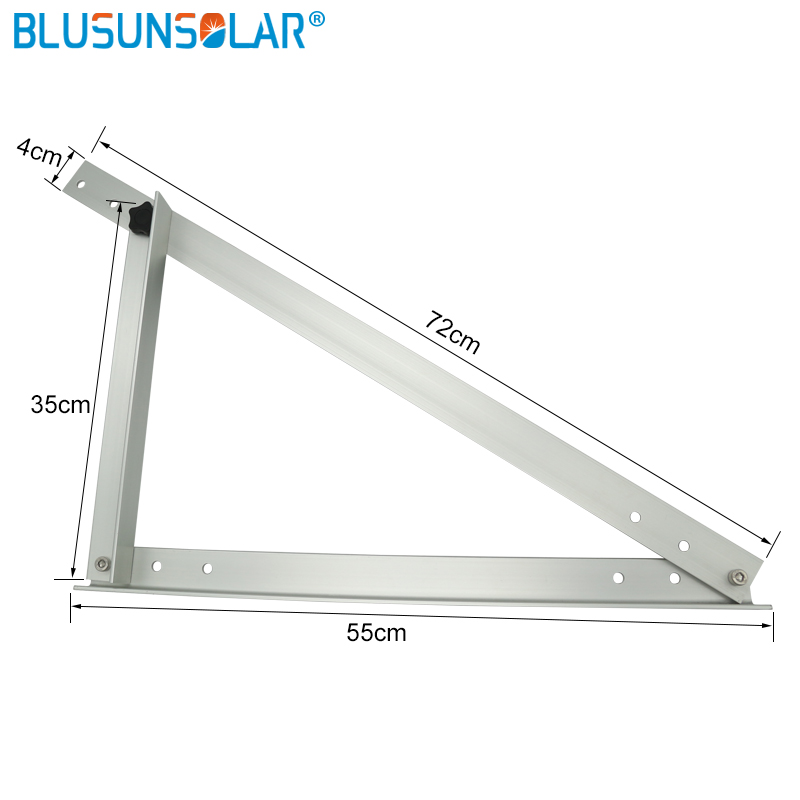 5 pec/lot Triangle Aluminum Oblique beam and Triangel Back Beam 550mm 100W 300W Solar Panel Roof Mounting Bracket For Motorhome