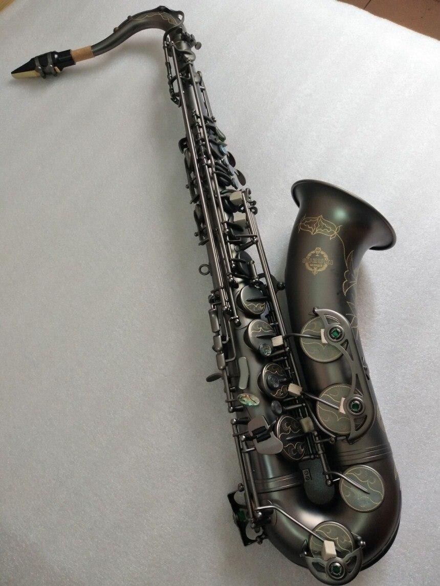Nuovo Giappone Suzuki B flat strumento Musicale Sassofono Tenore giocare professionalmente paragrafo Nichel Nero Oro Sassofono Trasporto