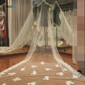Dressv Gorgeous Cathedral Length White Lace Wedding Bridal Veils lace edge Chapel/Cathedral Wedding Dresses wedding bridal veils