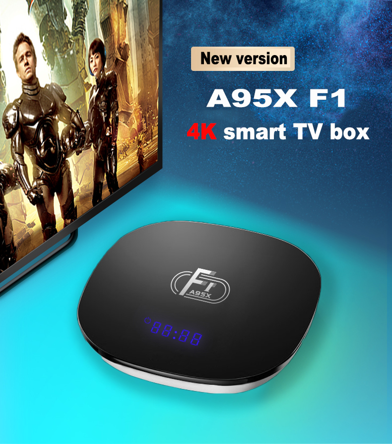 A95X F1 Smart TV Box Android 8 1 Amlogic S905W Quad Core Set Top Box 4K 2G  16G 2 4GHz WiFi A95XF1 Support H 265 4K PK X96 mini