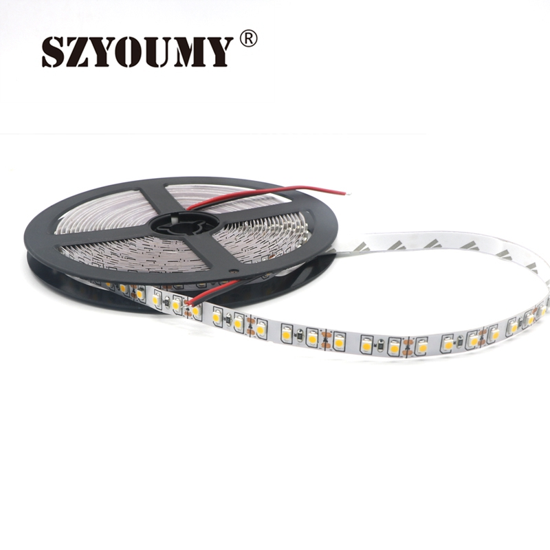 Lights & Lighting Enthusiastic Szyoumy Dc12v 5m/roll 120led/m 600leds 3528smd Ip20 Non-waterproof Flexible Led Strip Cool White Color 6000-6500k