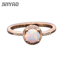 Фотография Beautiful Cute Simple Round Jewelry  Fire Opal 925 Gold Plated Stamp Ring 5colors