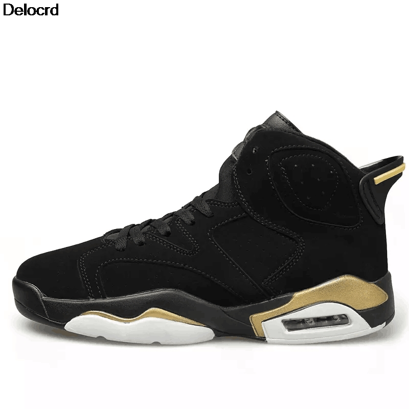 Delocrd 2018 Cheap Basketball Shoe High-Top AJ 6 Sneakers Air Cushion Basketball Shoes Jordan Sport Shoes For Men Basket Homme