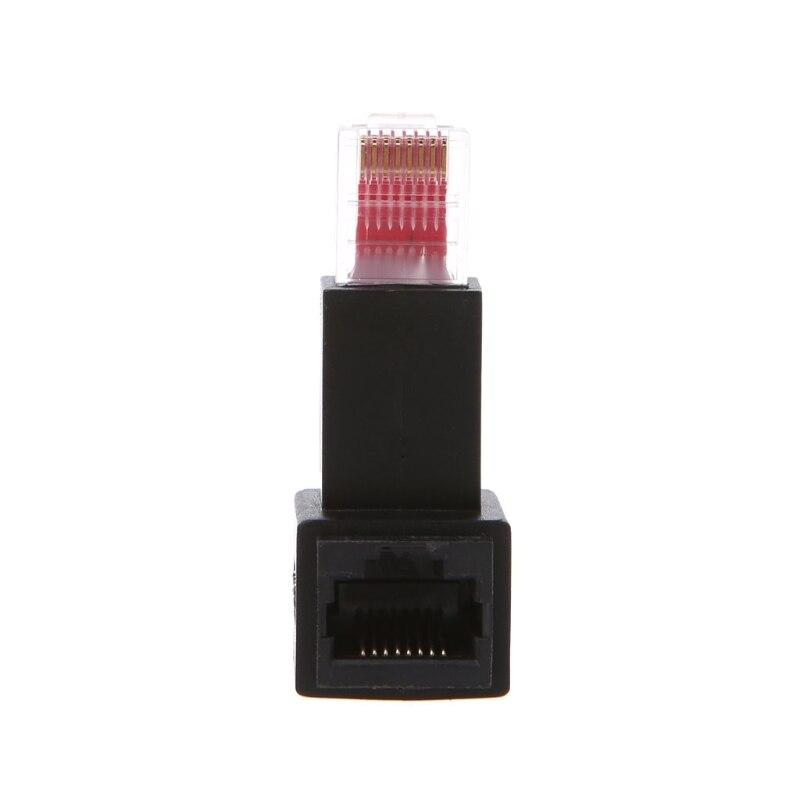 Подпушка-угол RJ45 Инструменты cat 5e мужчин и женщин сети LAN Ethernet адаптер расширение угла