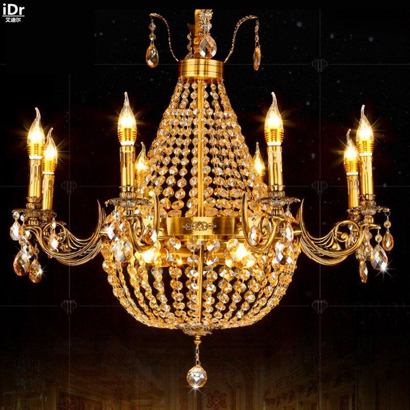 Die Restaurant Villa Kristall Licht Wohnzimmer Lampe Schlafzimmer Penthouse Korridor American Kerze Gold Kronleuchter Lmy
