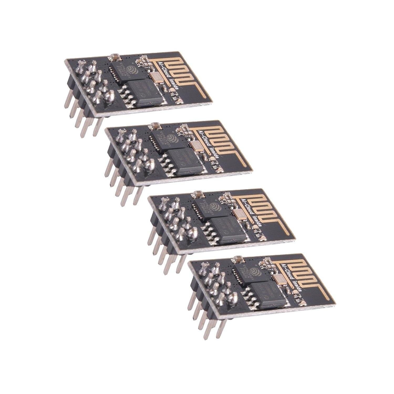 4 pces esp8266 Esp-01 serial sem fio wifi transceptor módulo compatível com arduino