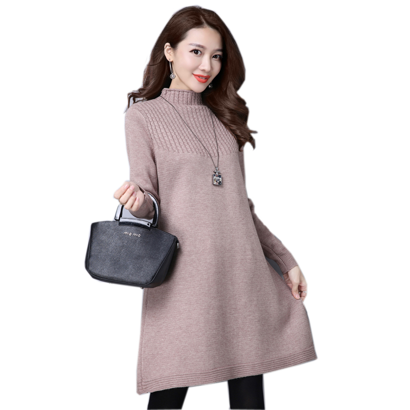 2017 autumn knitted maternity A line dress top pullovers oversize pregnancy Tunics sweaters clothes for pregnant women