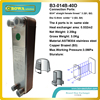 40plates Copper Brazed Stainless Steel Plate Heat Exchanger Designed For Geothermal Heat Pump Floor Heating Replace