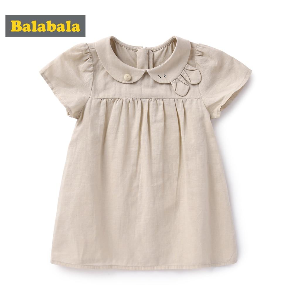 BalabalaGirl robe 2019 nouveau bébé robes motif imprimé dessin animé robe d'anniversaire filles bébé vêtements d'été enfants fille vêtements
