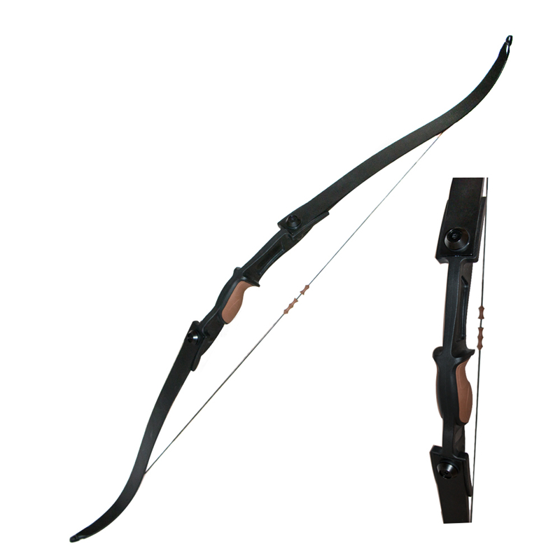 Two sides arrow rests left and right hand users archery bow game brown bow riser 25lbs 1 pc tag bow