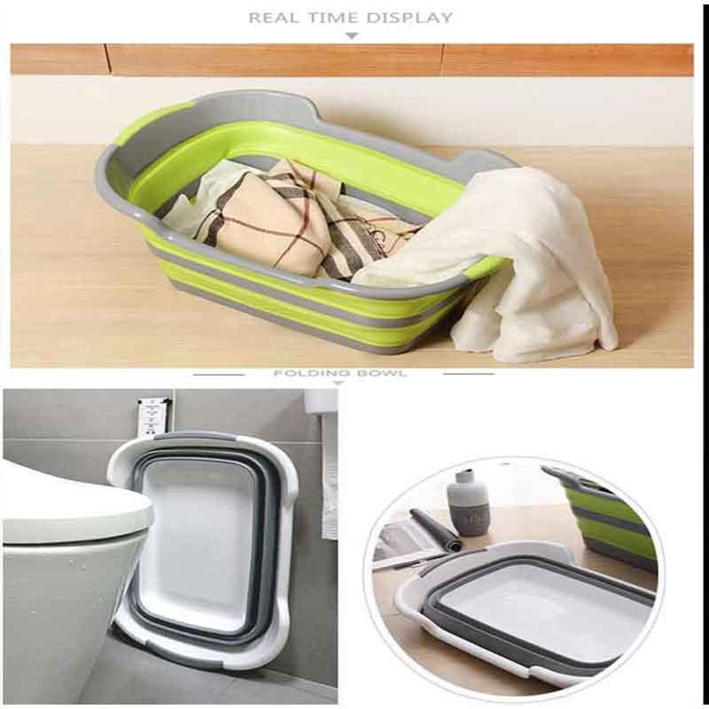 Портативная ванна, многофункциональная Нескользящая Складная Ванна, Детская ванна для домашних животных, креативная складная корзина для ...