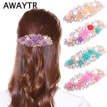AWAYTR Fashion Pearl Hairpins For Women Wedding Hair