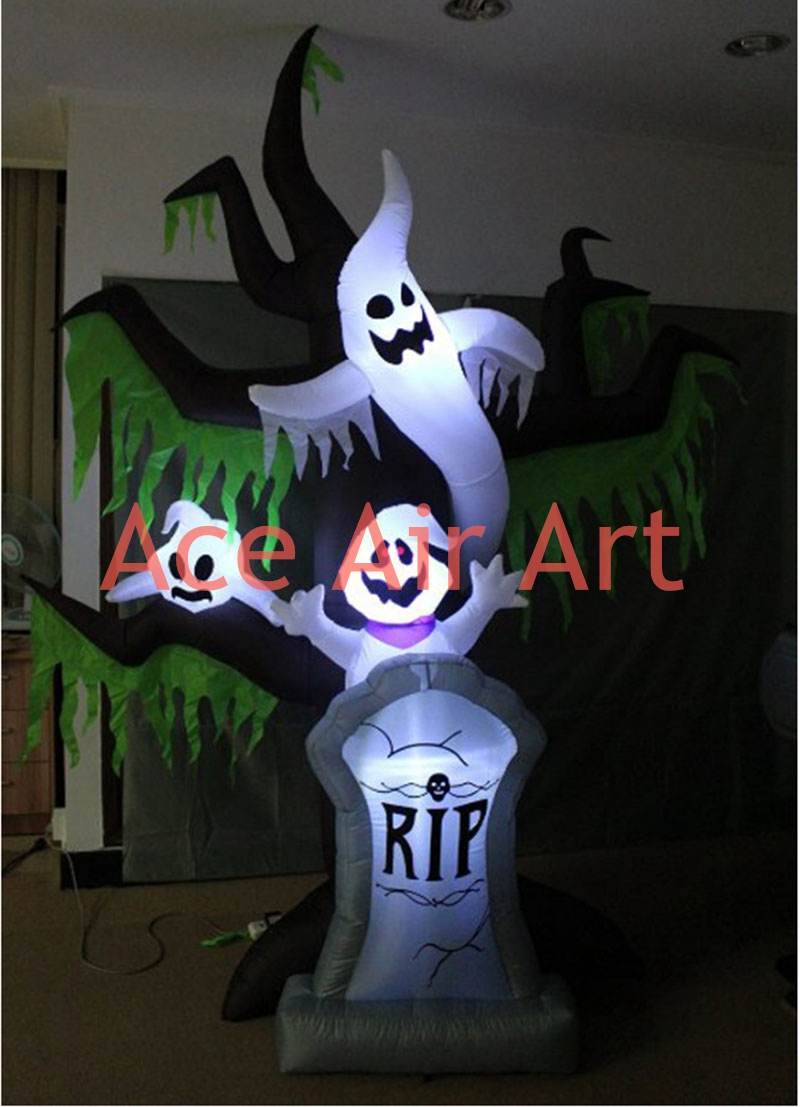 inflatable halloween yard decoration inflatable lighting tree with tombstonechina mainland - Inflatable Halloween Yard Decorations