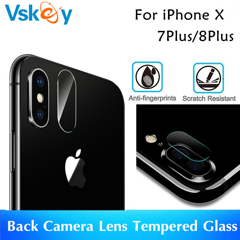 10pcs Back Camera Lens Tempered Glass For iPhone X Screen Protector 7 Plus 8Plus 7+ 8+ Protective Film