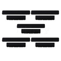 Yibuy 5 X Black Ebony Bridge Saddles And Nuts For 4 Strings Guitar Replacement