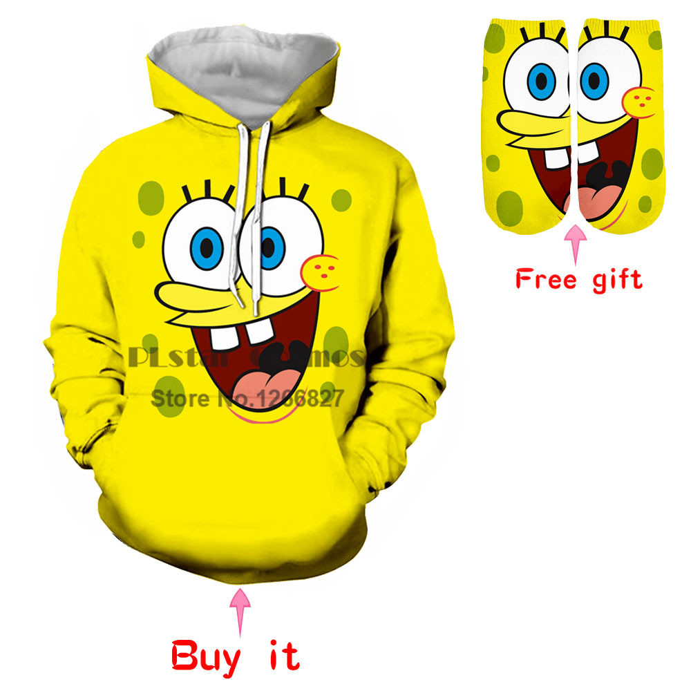 PLstar Cosmos New Fashion Hoodies Men Women Sweatshirts 3D Print Loose Streetwear Tracksuits Hooded Pullovers Classic Cartoon