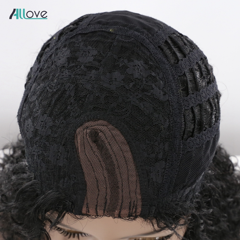 Afro Kinky Kinky Curly Human Hair Wigs For Black Women Allove Brazilian Remy U Part Lace Wigs Long Human Hair Wigs 150% Density-in Human Hair Lace Wigs from Hair Extensions & Wigs    3