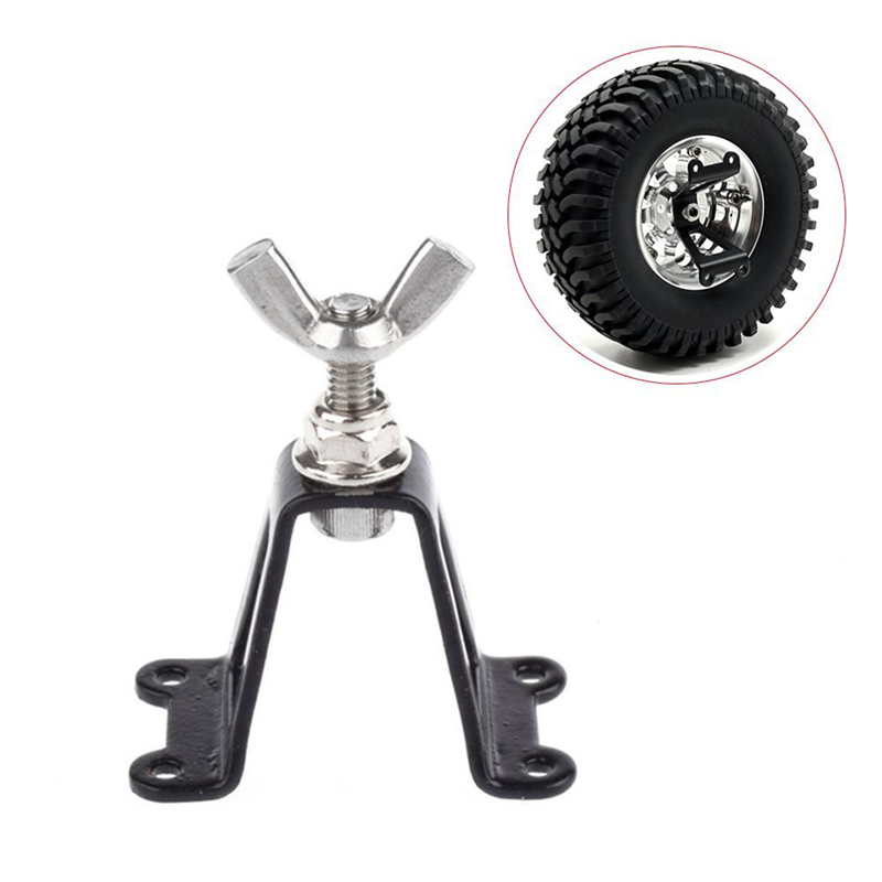 1/10 Spare Tire Rack Metal  Spare Tyre Bracket Wheel Holder Carrier For 1/10 Axial SCX10 RC4WD D90 Tamiya CC01 RC Crawler Car