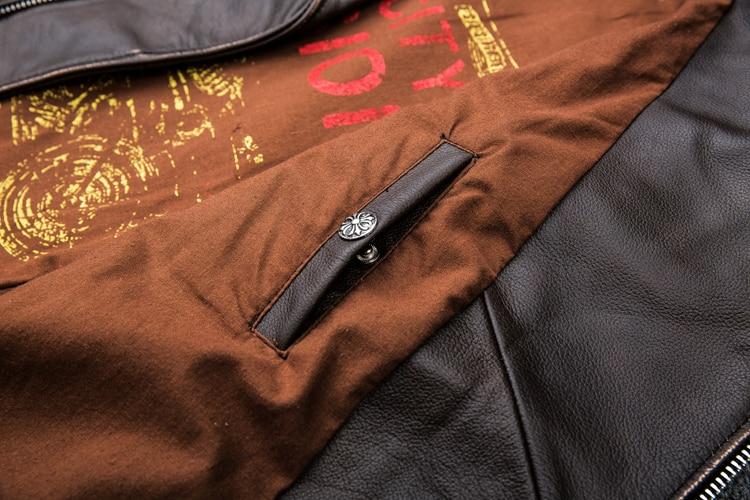 HTB1wg4aKXGWBuNjy0Fbq6z4sXXaA MAPLESTEED Brown Distressed Motorcycle Jacket Men 100% Calf Skin Classic Slim Leather Jacket Man Moto Biker Coat Winter 5XL M190