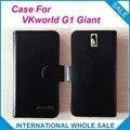 Em estoque Hot! 6 Cores VKworld G1 Caso Gigante, alta Qualidade capa de Couro Original Capa Exclusiva Para VKworld G1 Gigante de Rastreamento