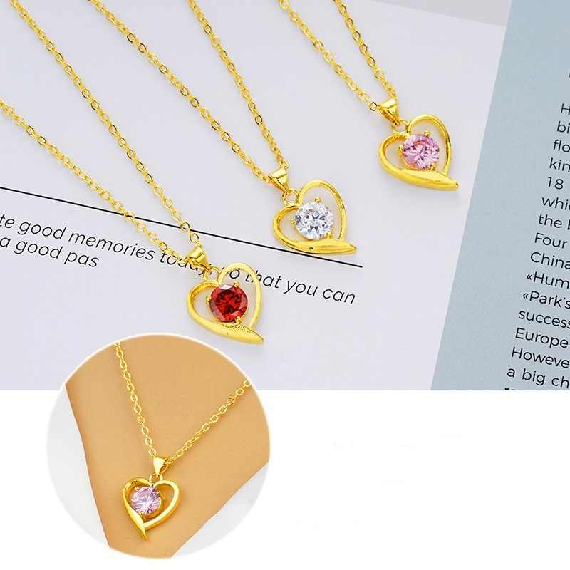 OMHXFC סיטונאי אירופאי אופנה אישה ילדה מסיבת יום הולדת חתונת מתנה אפל פרח זירקון 18KT אמיתי זהב קסם תליון PN101