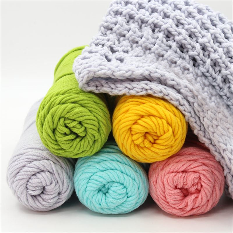 8 Ply 100% Cotton Crochet Knitting Super Soft Cotton Yarn Crochet Craft 100g Baby 62 Colors For Hand Knitting Hat Scarve Sweater
