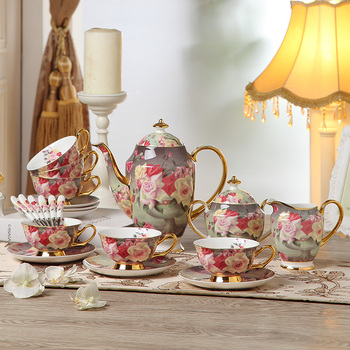 Europe Rose Bone Tea Sets 1