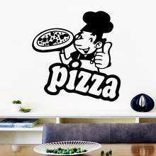 Colorful Pizza Wall Art Sticker Modern Decals Quotes Vinyls Stickers For Kids Rooms Diy Home Decoration Mural Poster