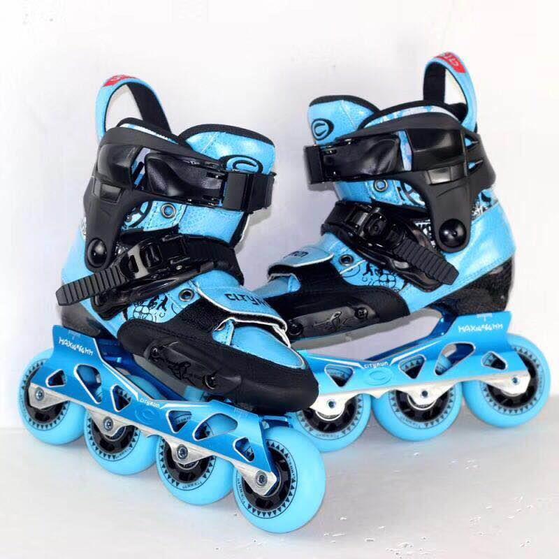 Enfants Slalom patins à roulettes CityRun chaussures de patin à roulettes de vitesse en ligne rue brosse patinage pour enfants baskets réglables IA109
