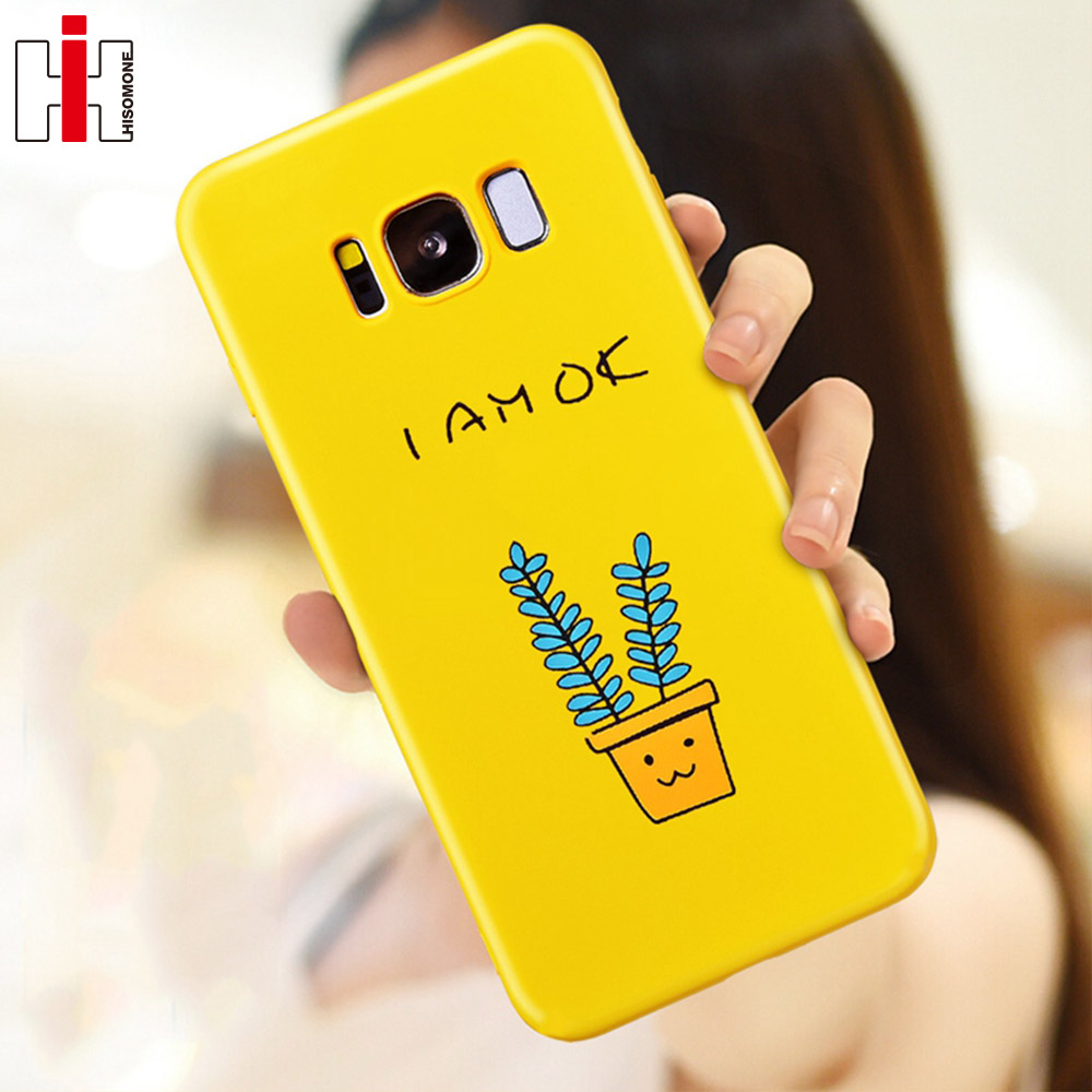 pretty nice 4fd59 5f1cf US $3.83 |Hisomone Yellow Phone Case For Samsung Galaxy S8 Plus Luxury  Giraffe Pot Case For Samsung Galaxy S9 Plus Note 9 Back Cover -in Fitted  Cases ...