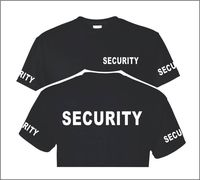 Summer SECURITY POLICE TShirt Custom Screen Printed On Front Back Sleeves Plus Size S 3XL Shirts