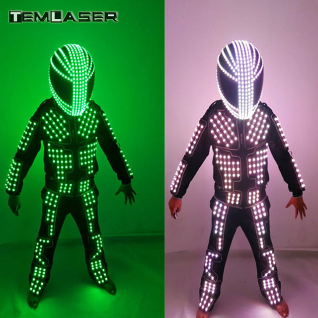 New arrived LED Costume Clothes Festive Party Supplies Luminous  Glowing Suits / Stage Performance Clothing / Robot Costume