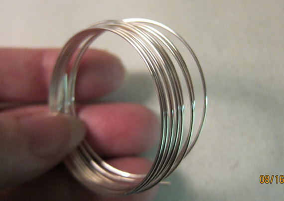 20 gauge, Sterling Silver Wire, Dead Soft, Round - Available in 5-foot Coils & on 25-ft Spools (2 weeks delivery on the spools) alev silver naer on terviseks
