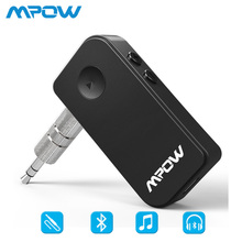 Mpow BH044 3nd Genetarion Wireless Bluetooth 4.1 receiver Handsfree 3.5mm Audio Music Streaming Receiver Adapter For Car Home(China)