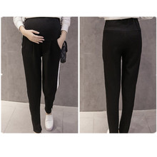 Maternity Belly Pants Causal Trousers for Pregnancy Wear Autumn Clothes Pregnant Women B0290