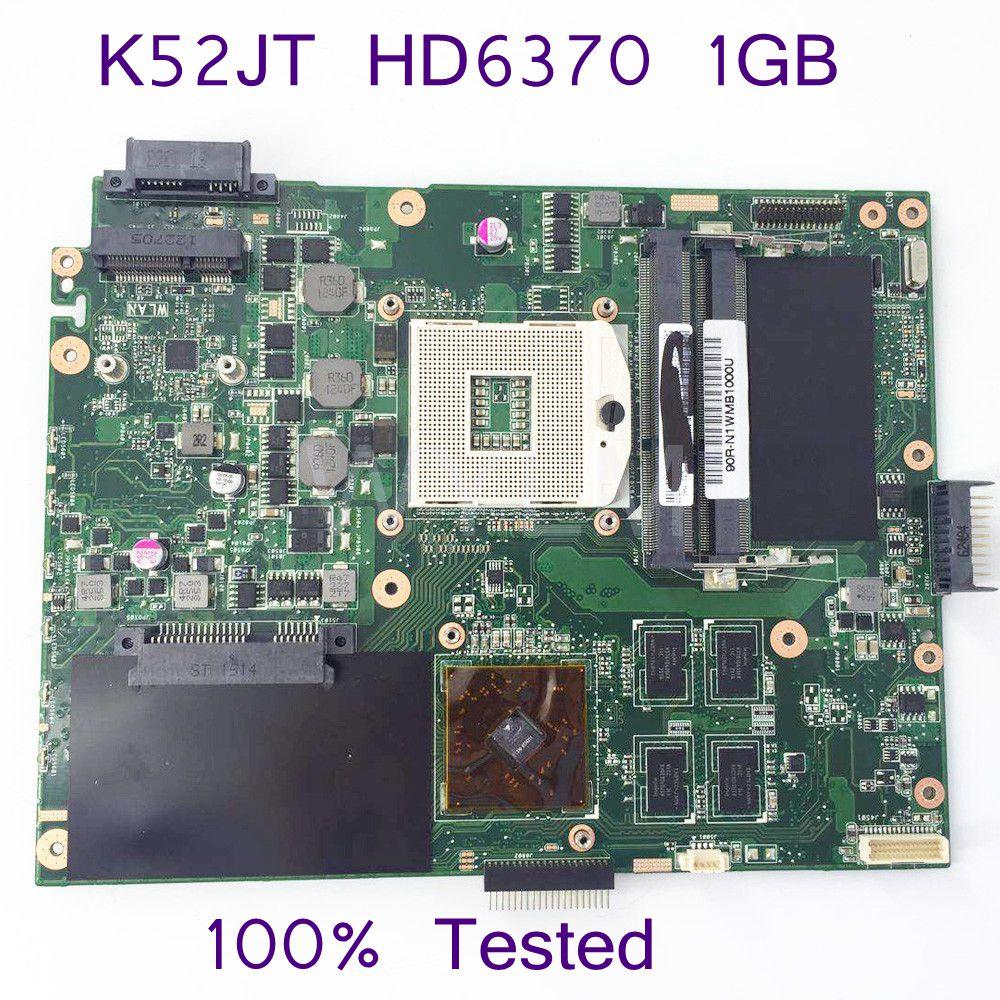 K52JT HD6370 1GB Mainboard For ASUS K52J A52J X52J K52JK K52JU K52JB K52JT K52JR K52JE Laptop Motherboard 100% Test Hot selling k52ju laptop motherboard mainboard for asus k52jt k52j k52jc a52j x52jc x52j k52je with hd6370 512m ddr3
